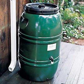 Gaiam's forest green Rain Barrel