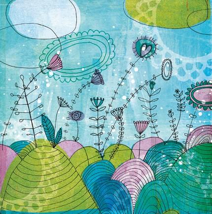 sky garden print