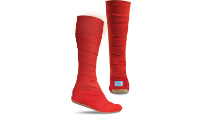 toms red boots