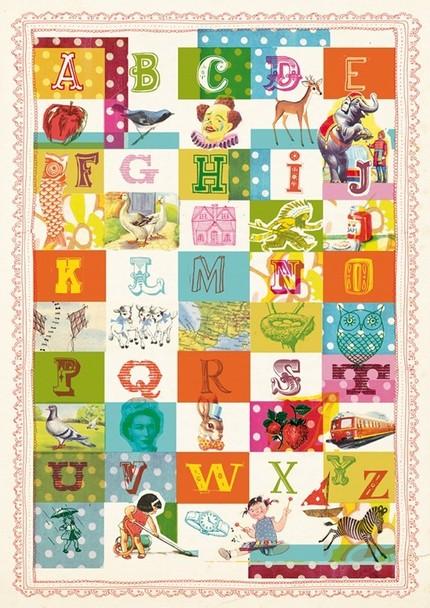 vintage alphabet print