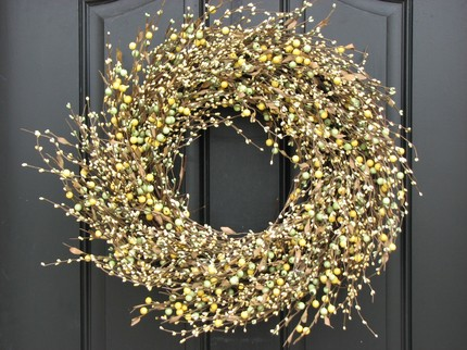 lemon lime berry wreath