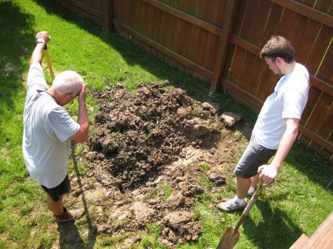 Daddy and JD digging