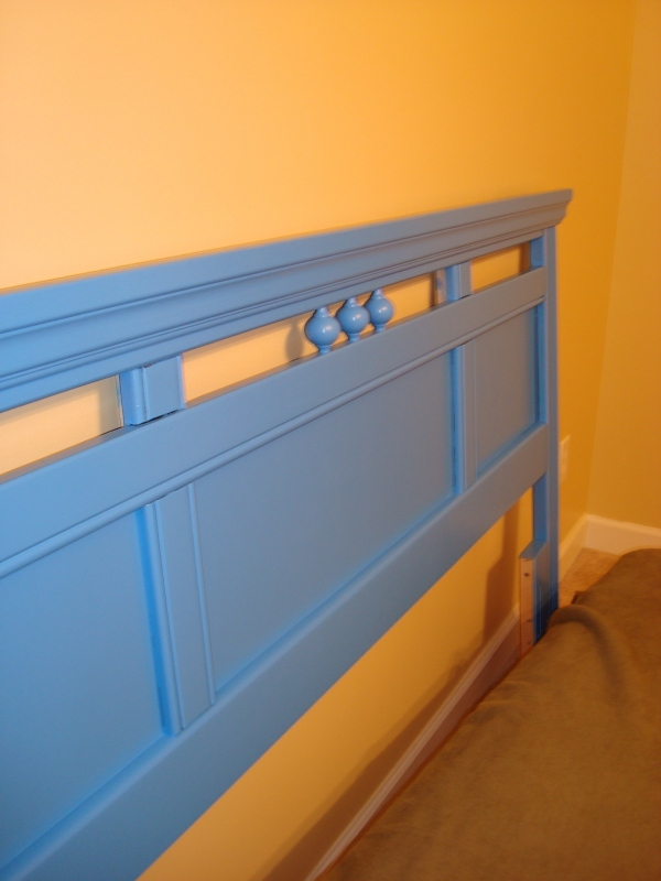 AFTER: Headboard Blue Burst