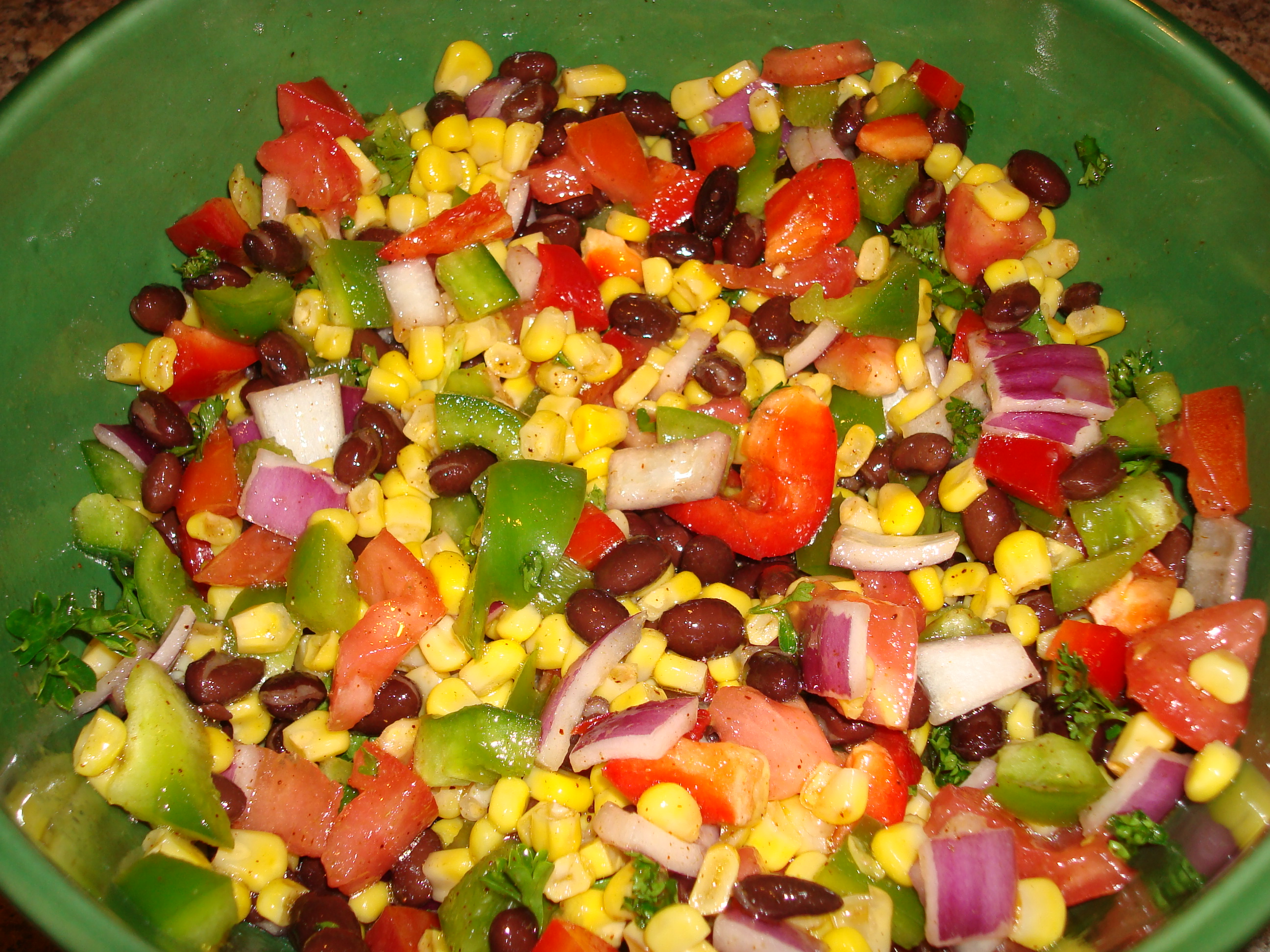 friday feast cold corn and bean salad kate schmate